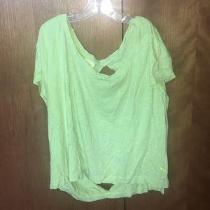 VS PINK Neon Yellow Backless Shirt